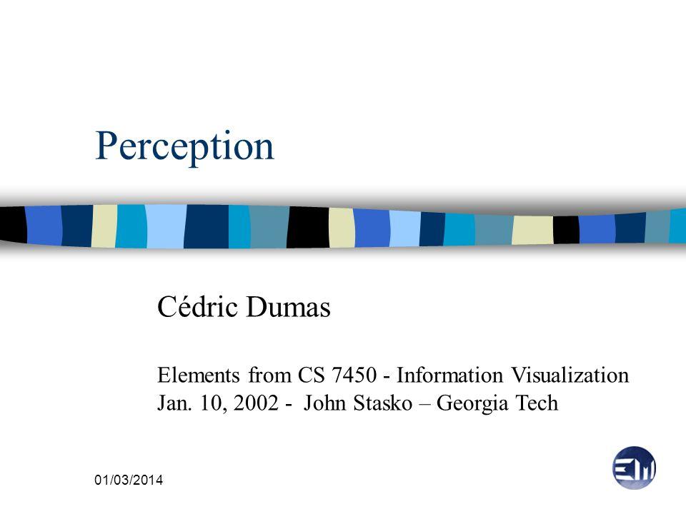 Perception Cédric Dumas
