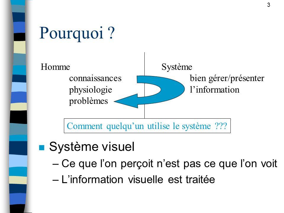 Pourquoi Système visuel
