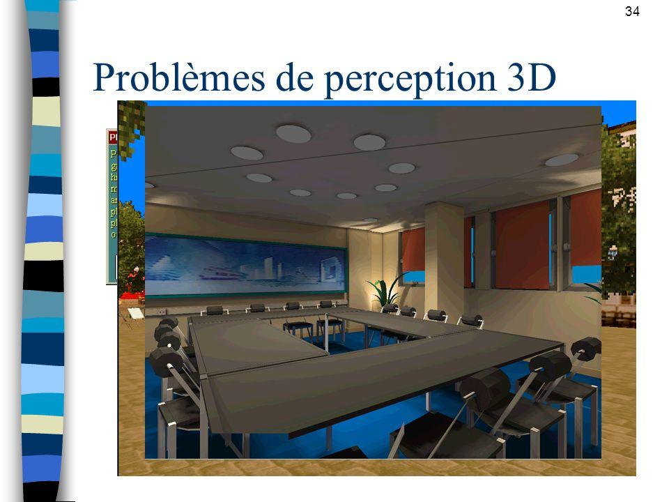 Problèmes de perception 3D
