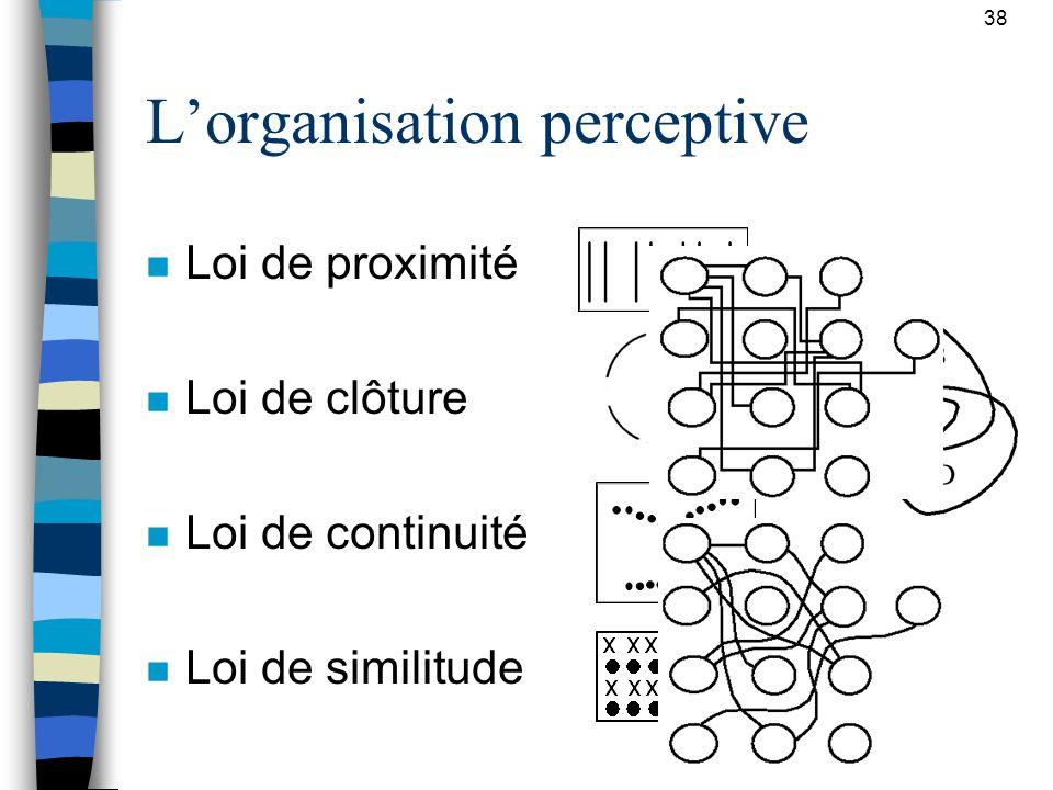 L'organisation perceptive