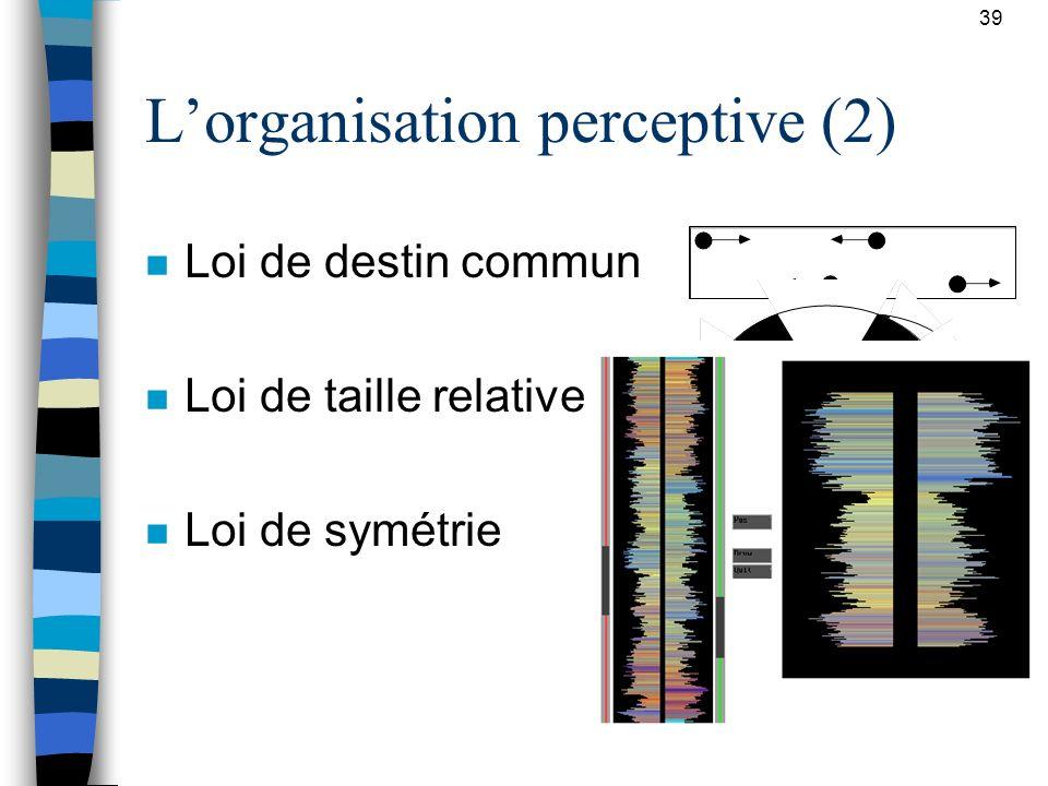 L'organisation perceptive (2)