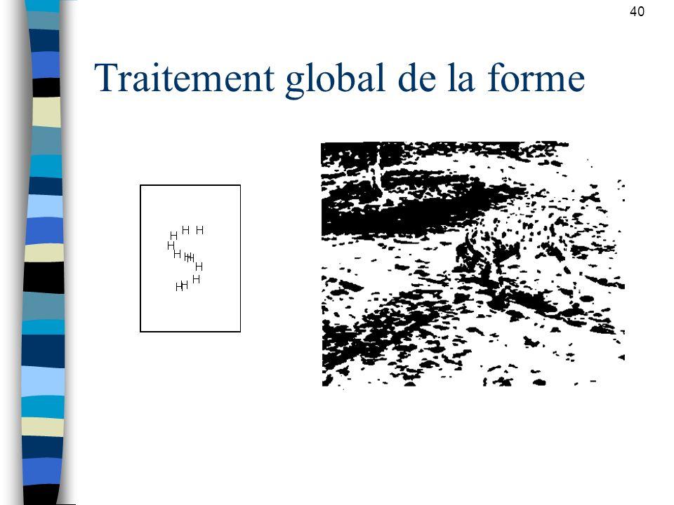 Traitement global de la forme
