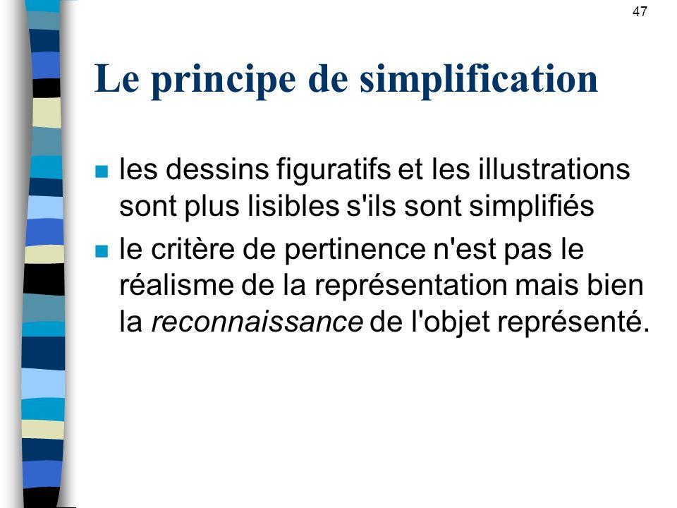 Le principe de simplification