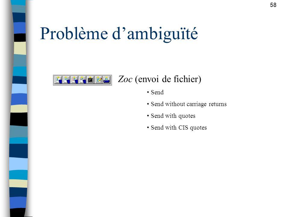 Problème d'ambiguïté Zoc (envoi de fichier) Send