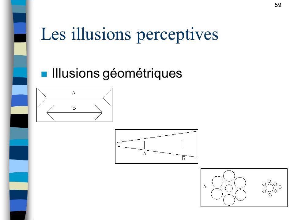 Les illusions perceptives