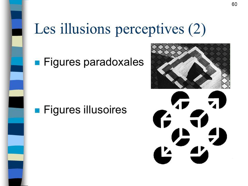 Les illusions perceptives (2)