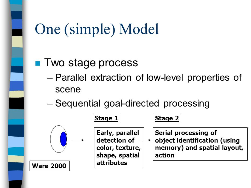 One (simple) Model Two stage process