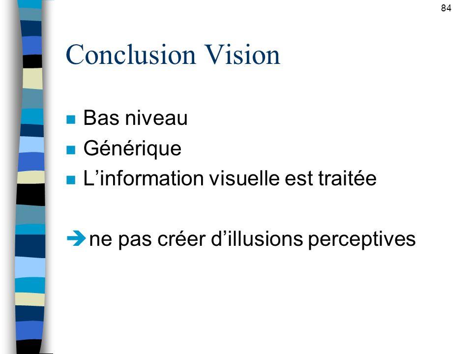 Conclusion Vision Bas niveau Générique