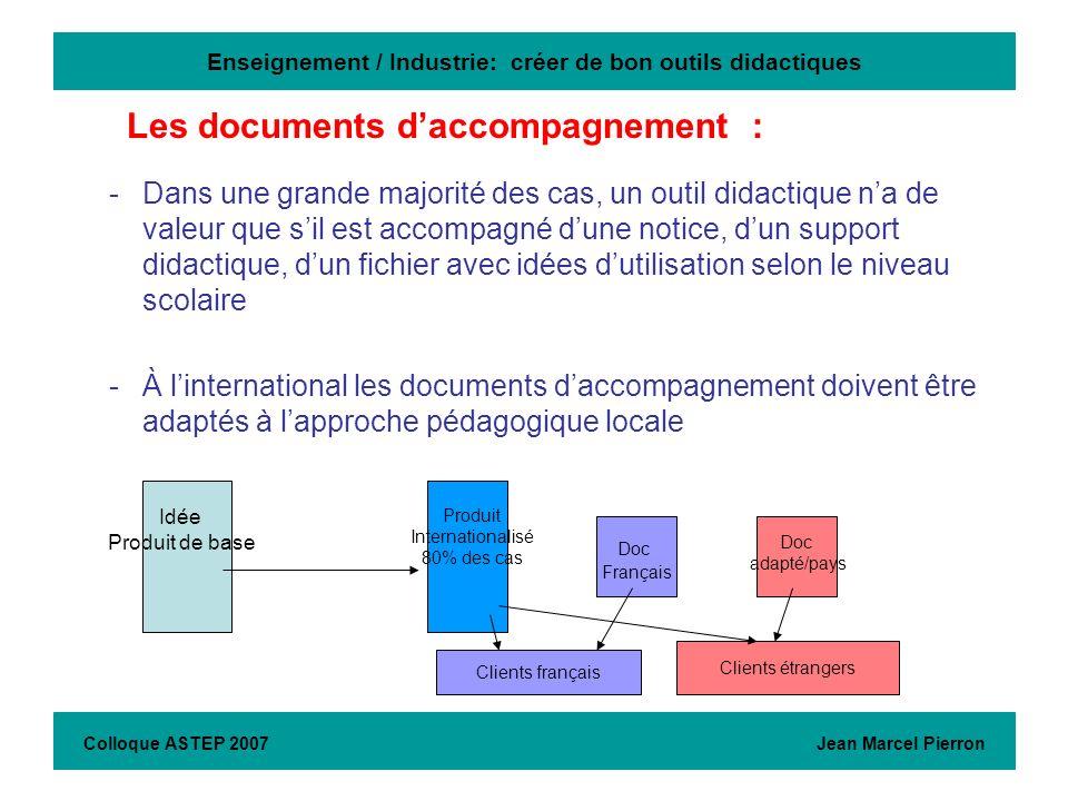 Enseignement / Industrie: créer de bon outils didactiques