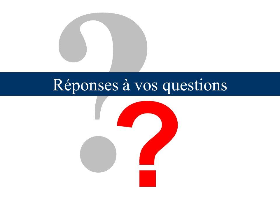 Réponses à vos questions