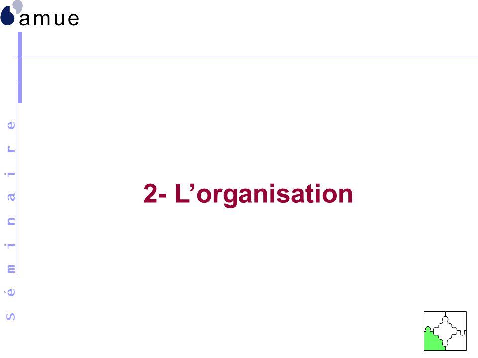 2- L'organisation