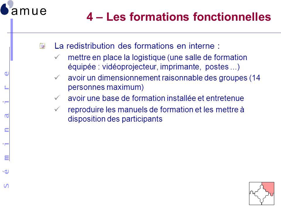 4 – Les formations fonctionnelles
