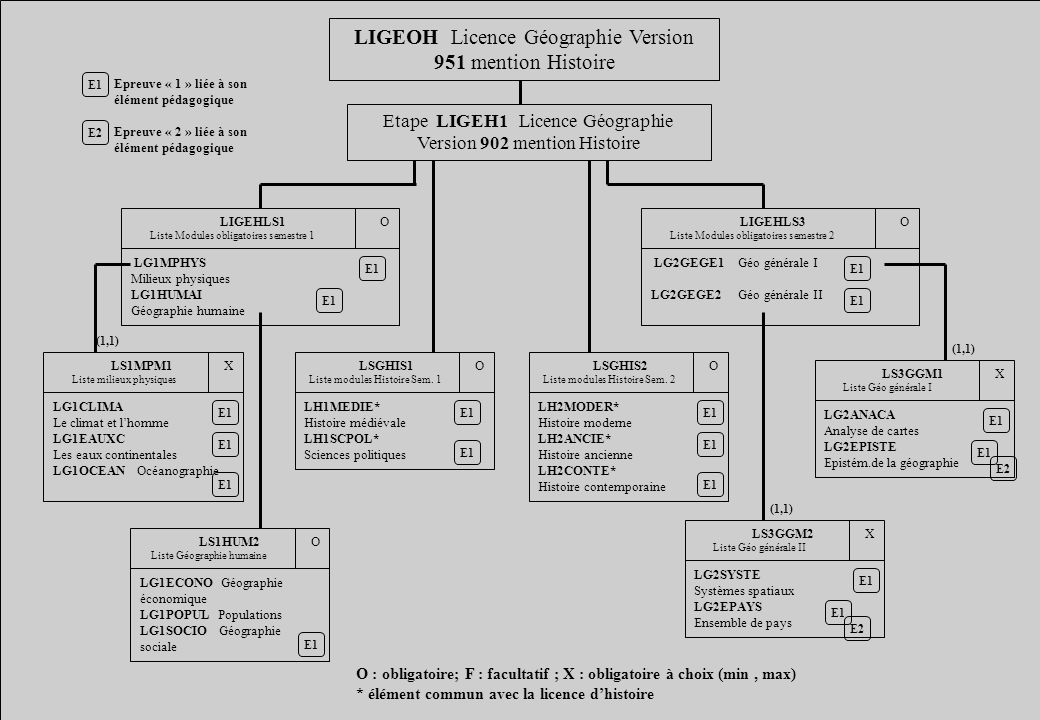 LIGEOH Licence Géographie Version 951 mention Histoire
