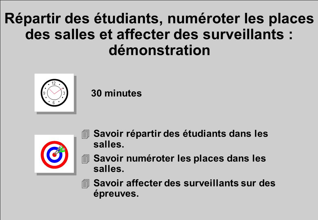 Répartir des étudiants, numéroter les places des salles et affecter des surveillants : démonstration