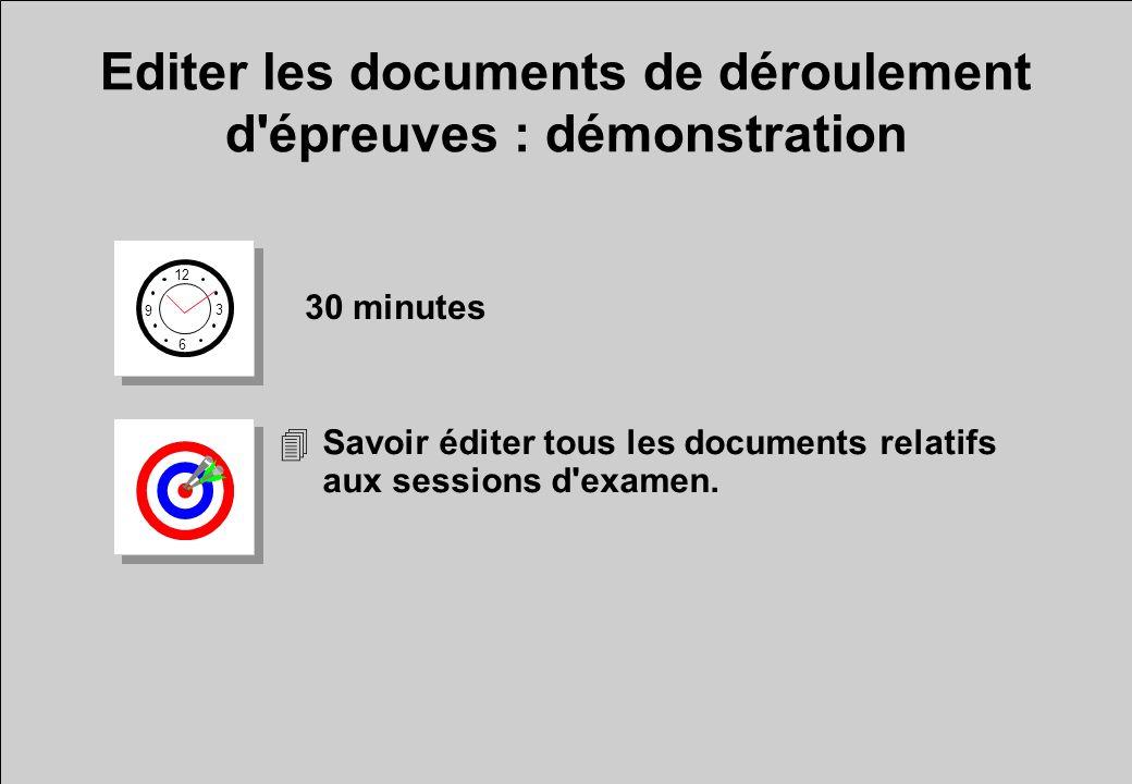 Editer les documents de déroulement d épreuves : démonstration