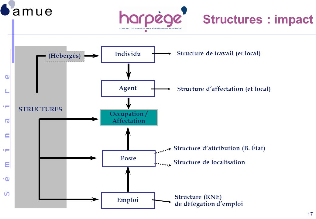 Structures : impact Individu Structure de travail (et local)