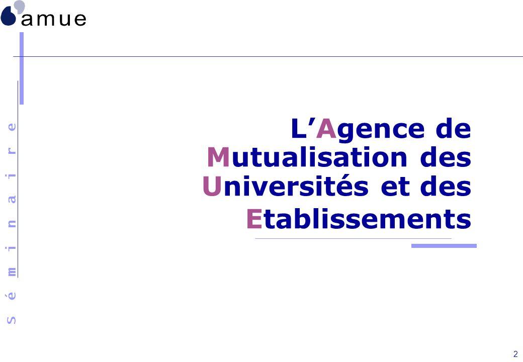 L'Agence de Mutualisation des Universités et des Etablissements