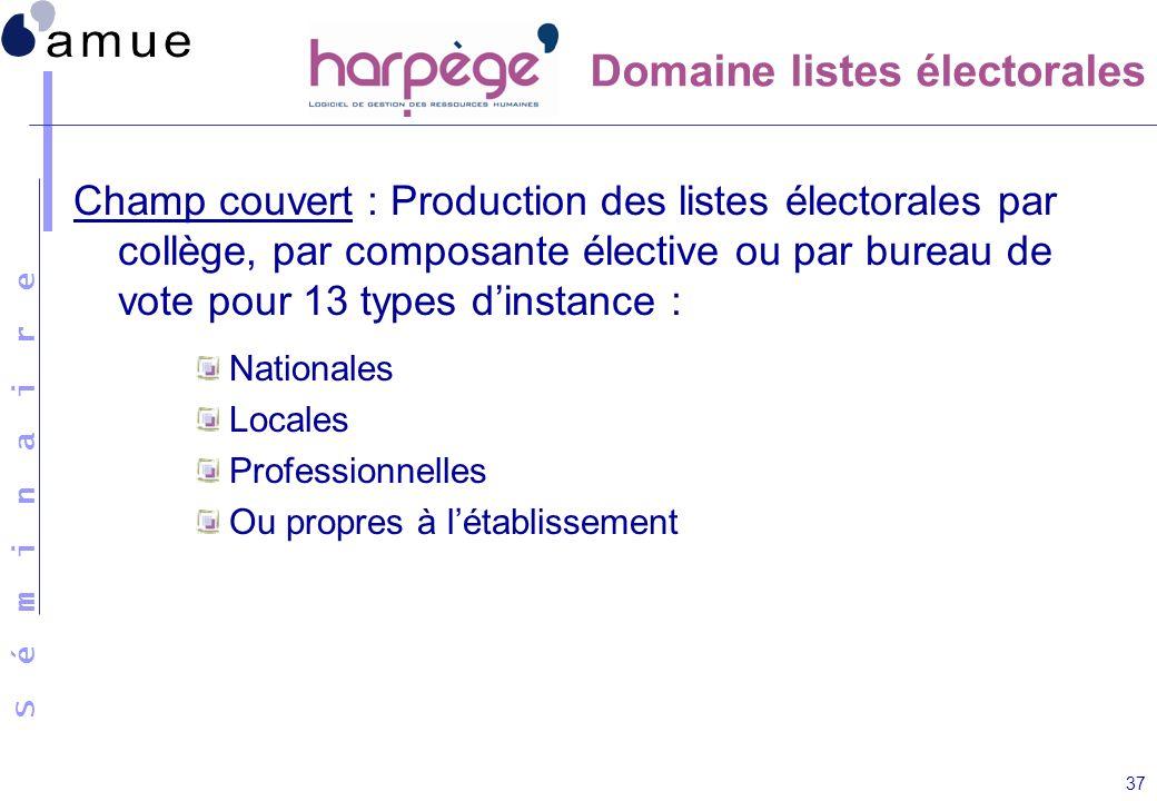 Domaine listes électorales