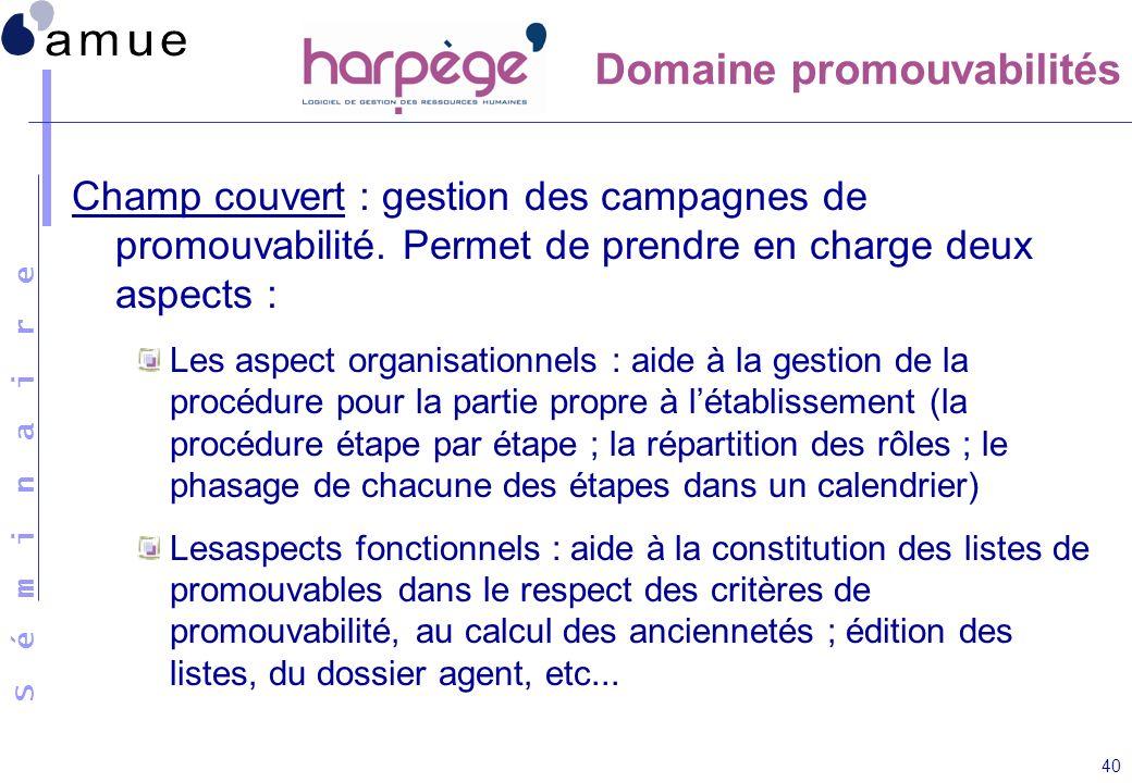 Domaine promouvabilités