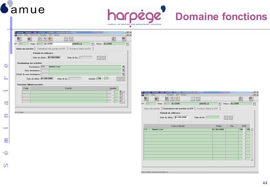 Domaine fonctions