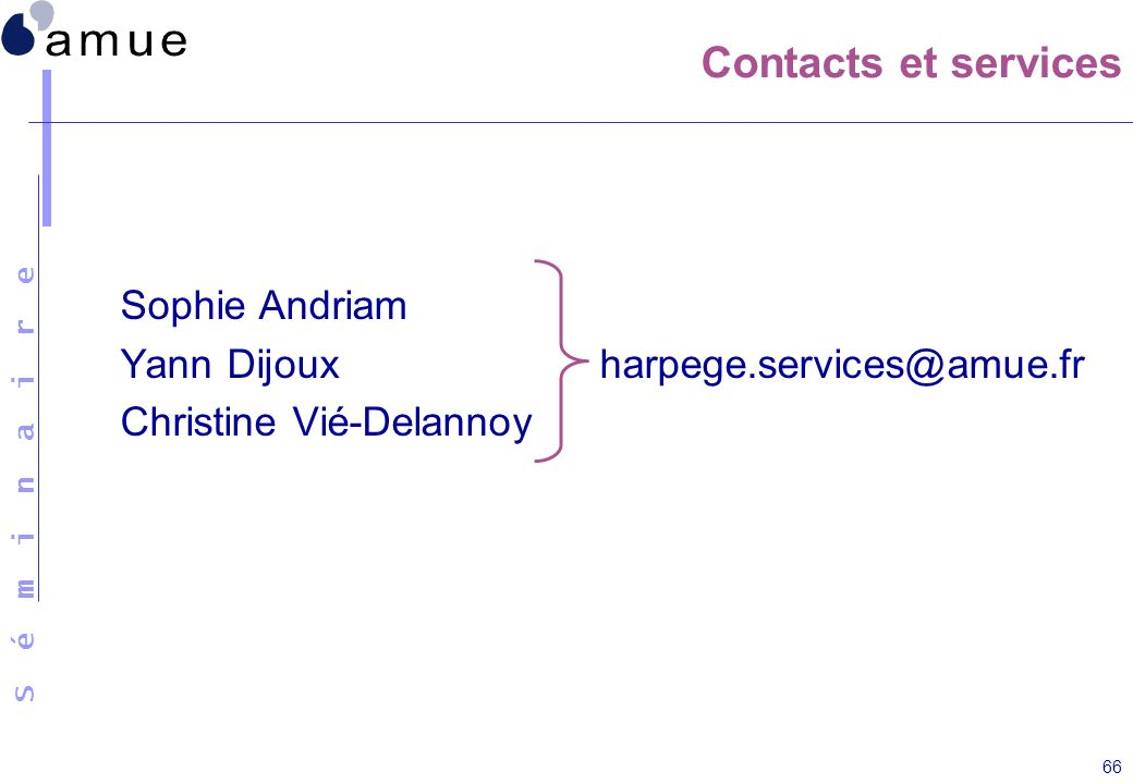 Contacts et services Sophie Andriam