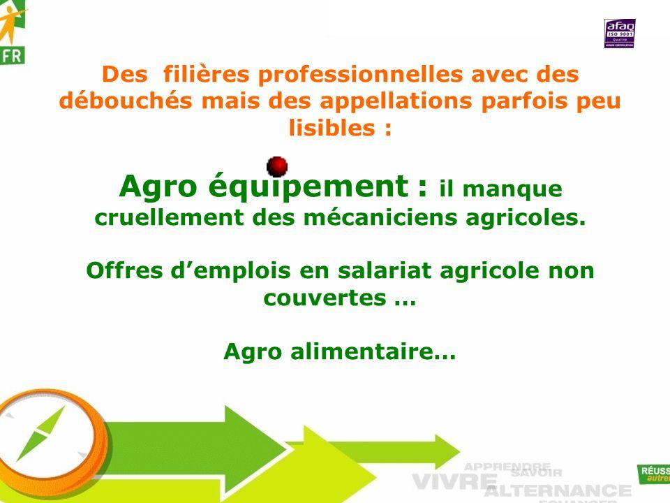 Agro équipement : il manque cruellement des mécaniciens agricoles.