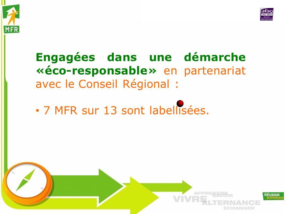 Engagées dans une démarche «éco-responsable» en partenariat avec le Conseil Régional :