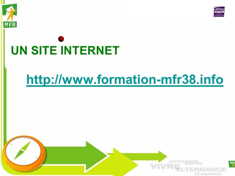 UN SITE INTERNET http://www.formation-mfr38.info