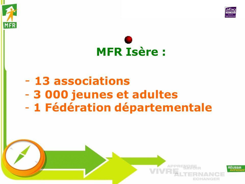 13 associations MFR Isère : 3 000 jeunes et adultes