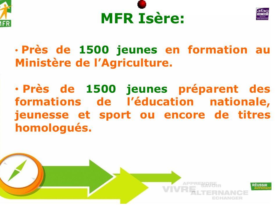 MFR Isère: Près de 1500 jeunes en formation au Ministère de l'Agriculture.