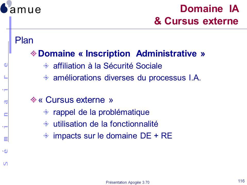 Domaine IA & Cursus externe