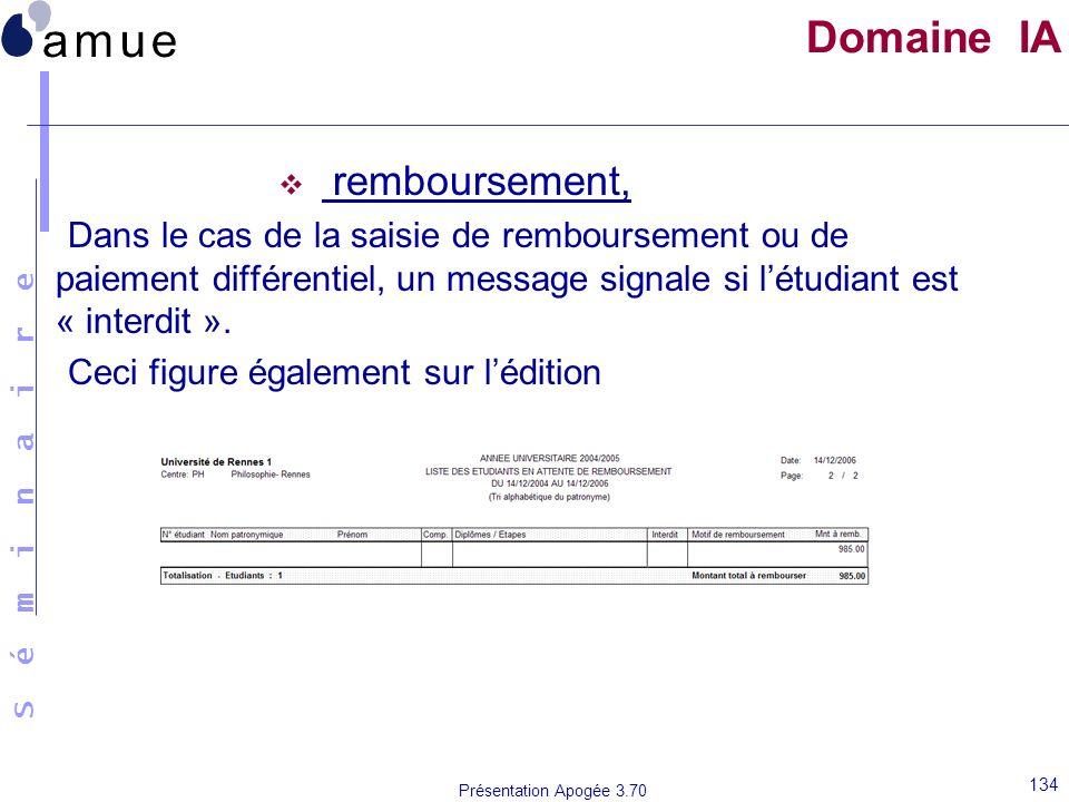 Domaine IA remboursement,