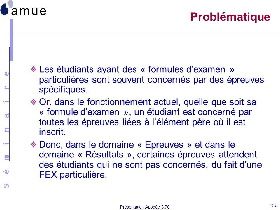 Problématique Les étudiants ayant des « formules d'examen » particulières sont souvent concernés par des épreuves spécifiques.