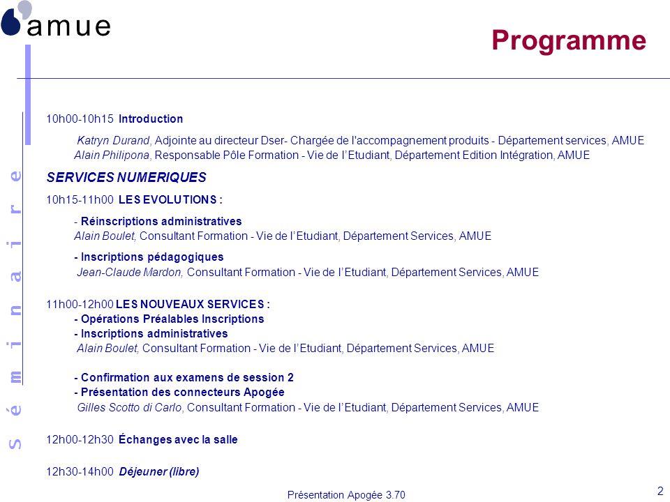 Programme SERVICES NUMERIQUES 10h00-10h15 Introduction