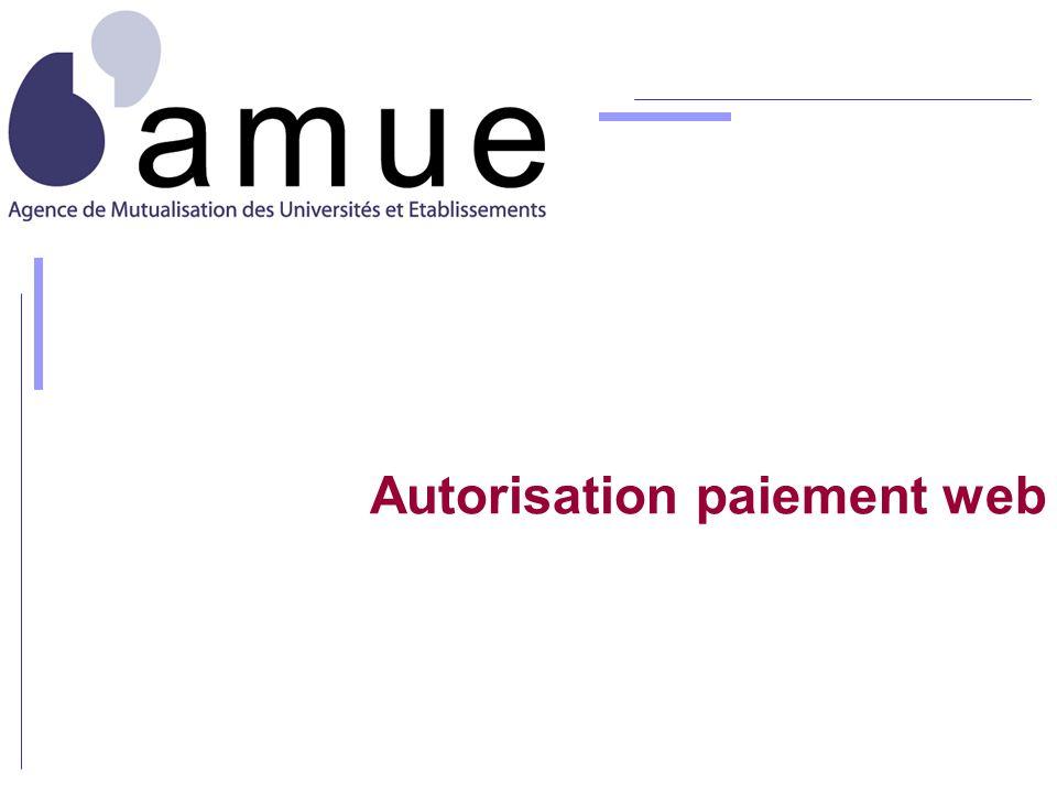 Autorisation paiement web