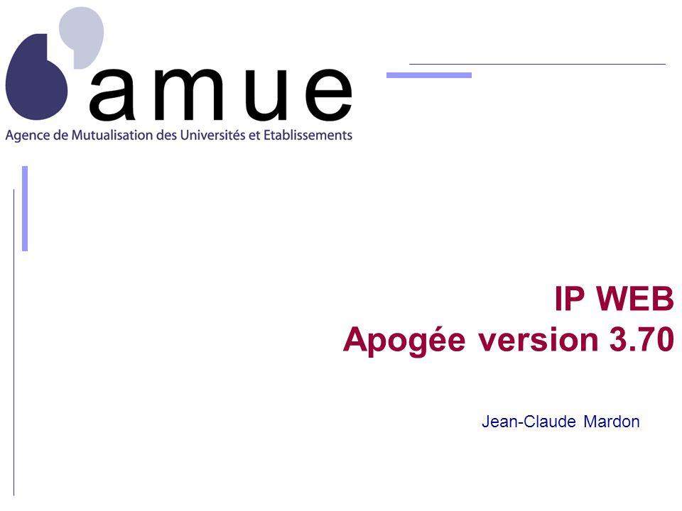 IP WEB Apogée version 3.70 Jean-Claude Mardon