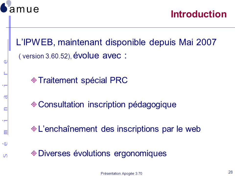 Introduction L'IPWEB, maintenant disponible depuis Mai 2007