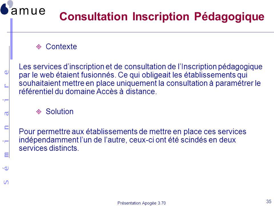 Consultation Inscription Pédagogique