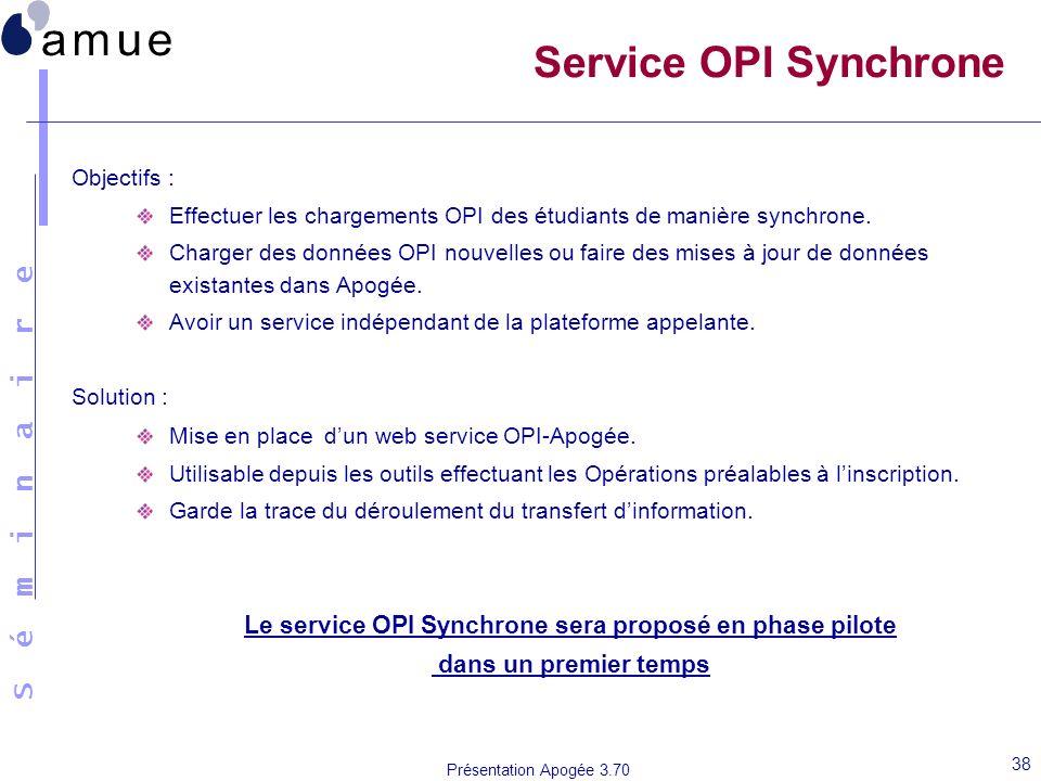 Le service OPI Synchrone sera proposé en phase pilote