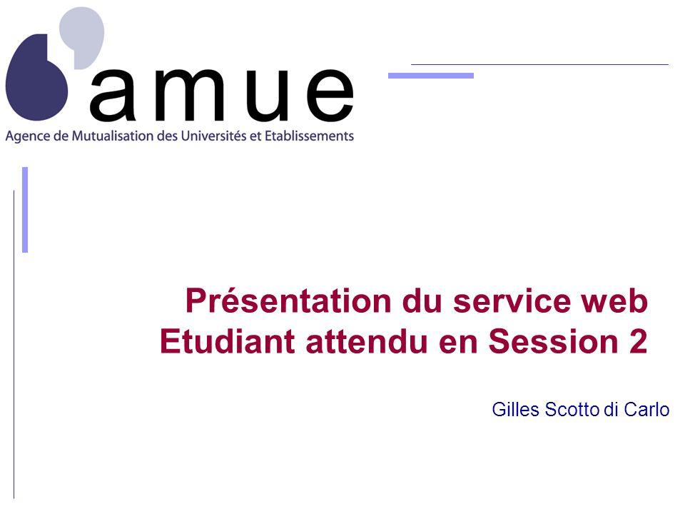 Présentation du service web Etudiant attendu en Session 2