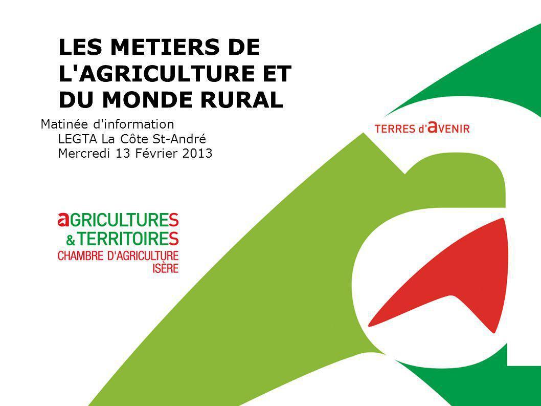 LES METIERS DE L AGRICULTURE ET DU MONDE RURAL