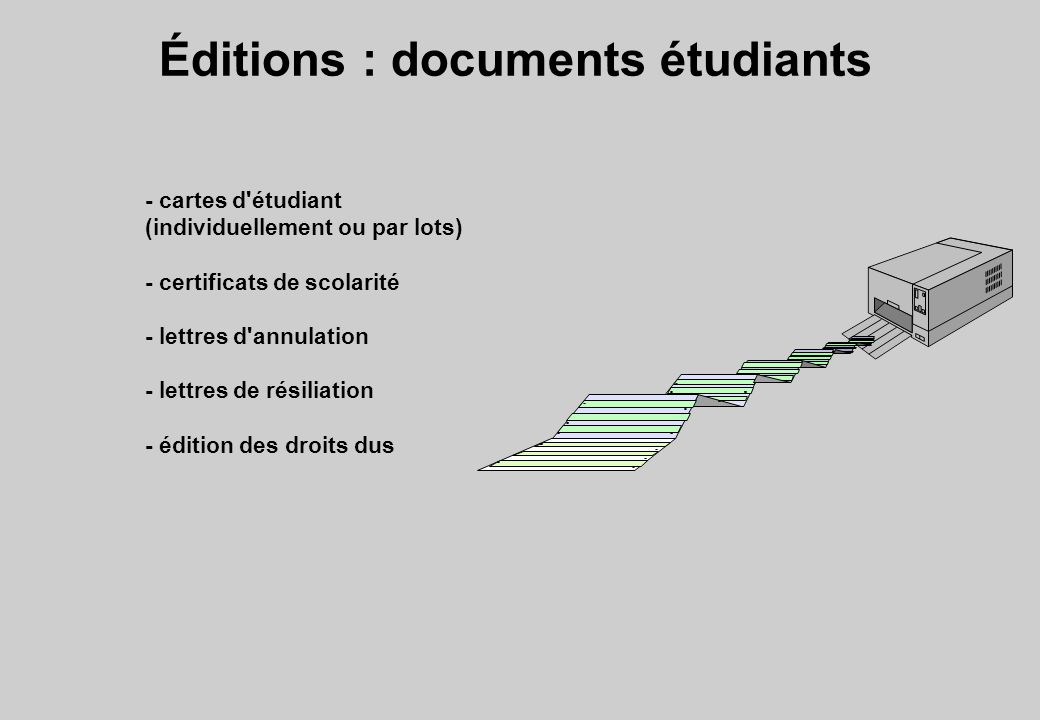 Éditions : documents étudiants
