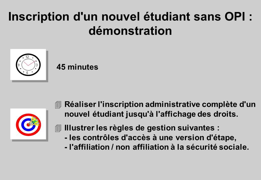 Inscription d un nouvel étudiant sans OPI : démonstration