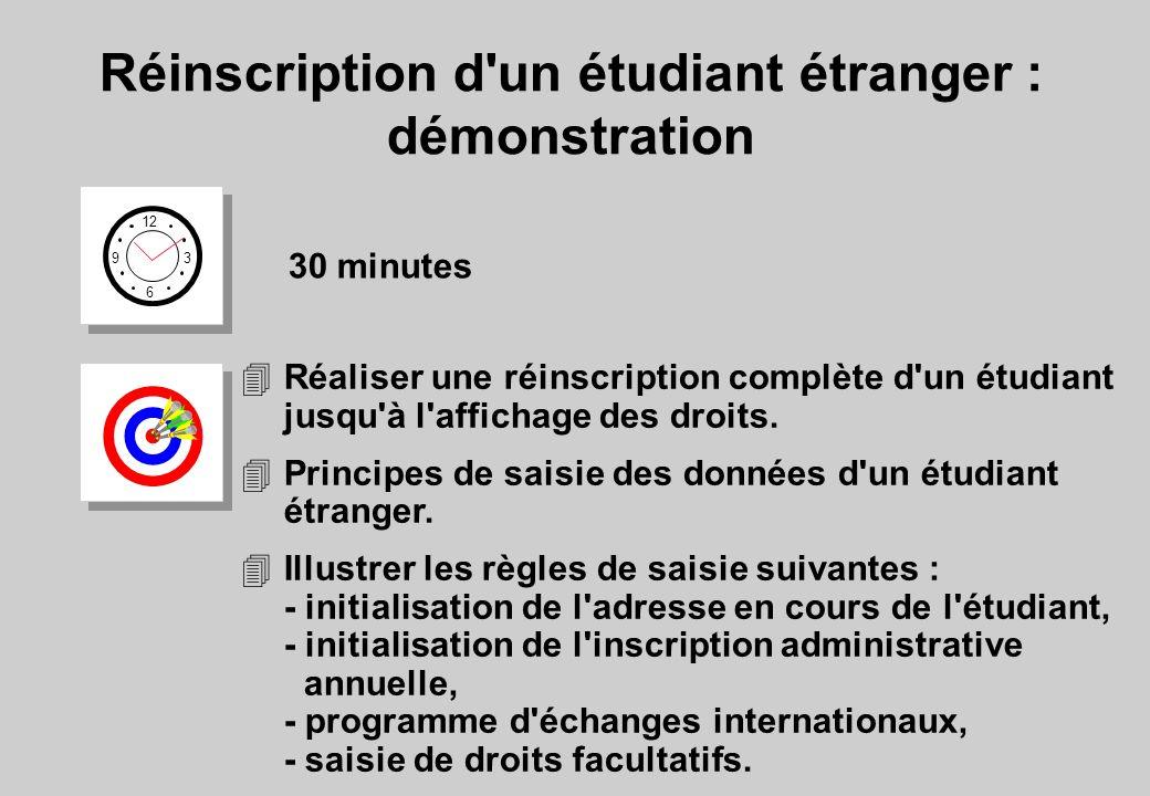 Réinscription d un étudiant étranger : démonstration