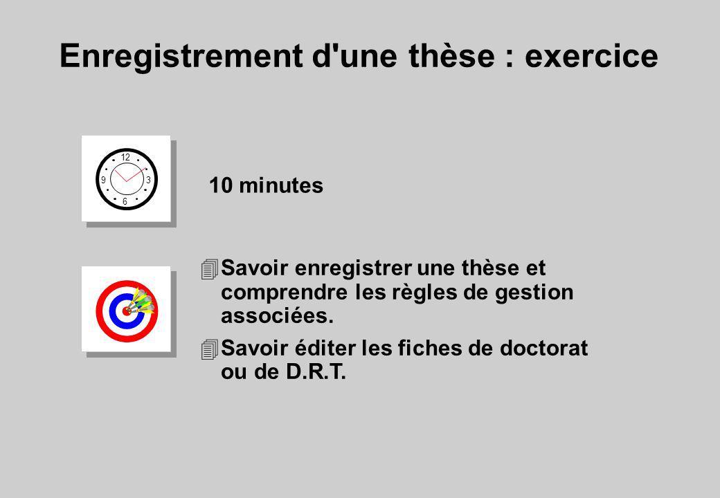 Enregistrement d une thèse : exercice