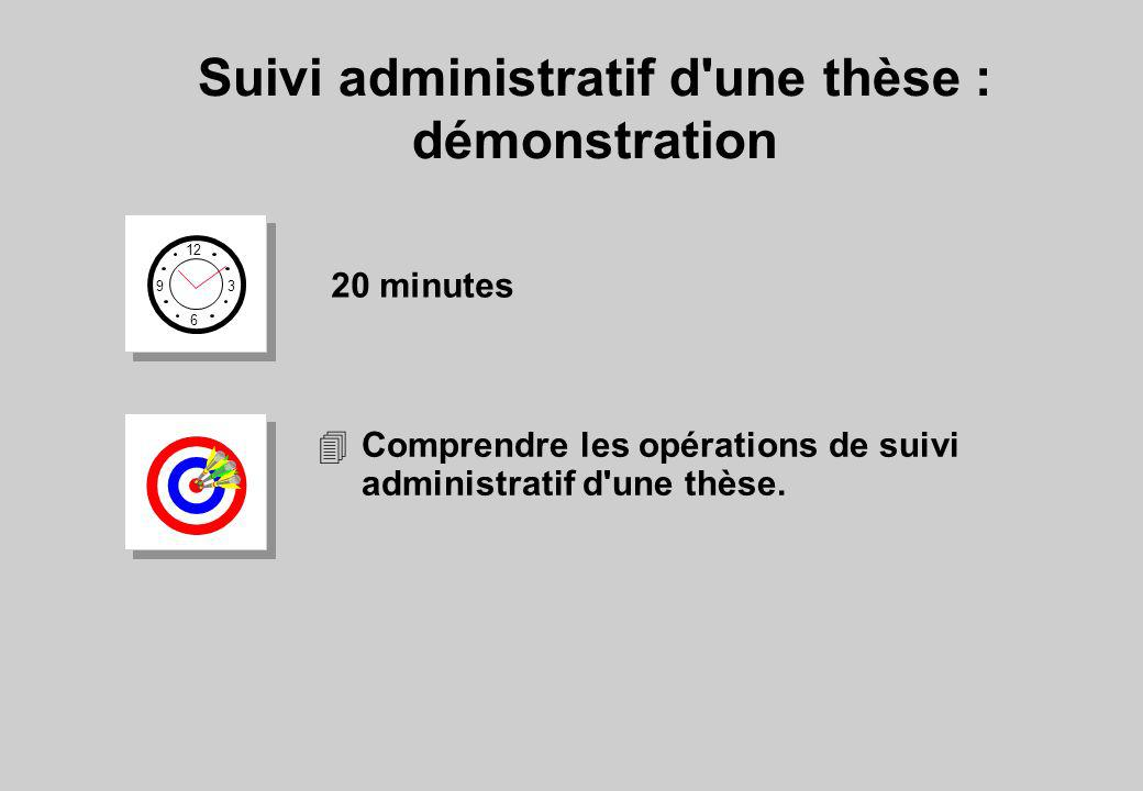 Suivi administratif d une thèse : démonstration