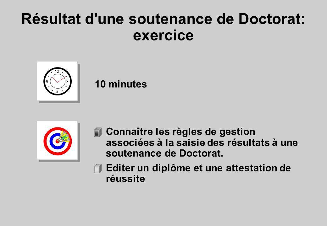 Résultat d une soutenance de Doctorat: exercice