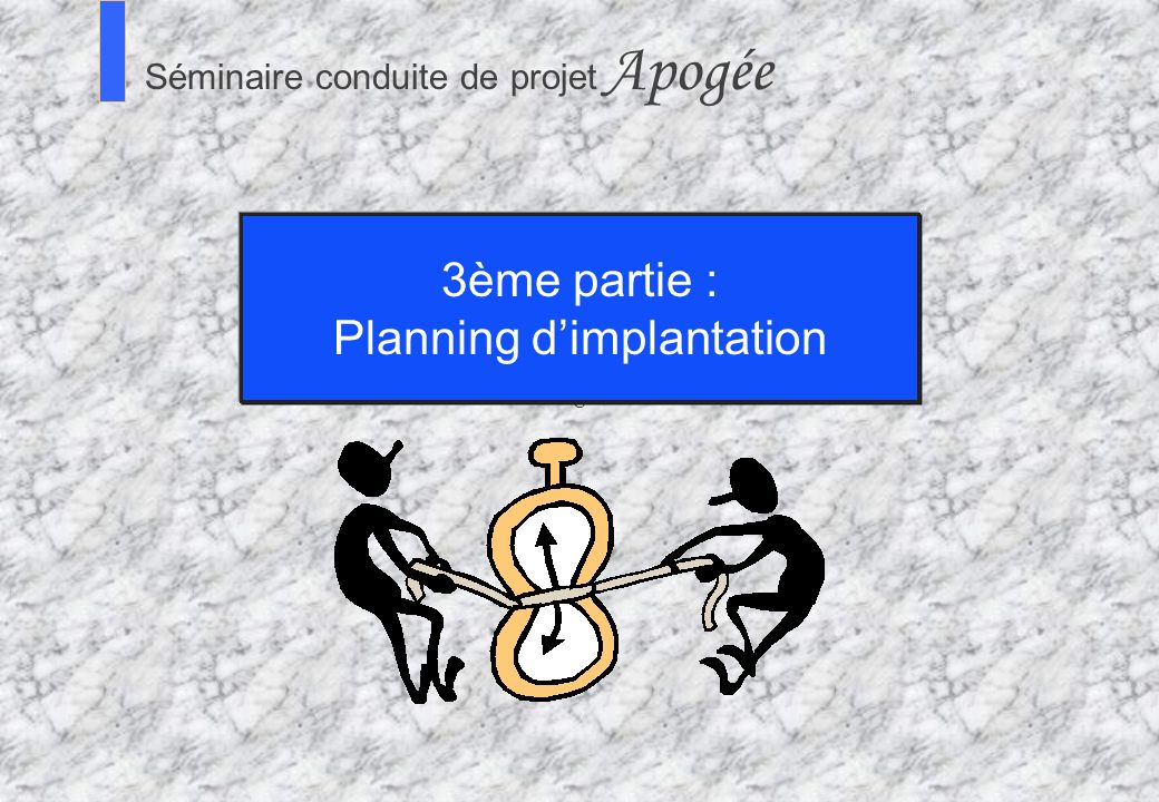 Planning d'implantation