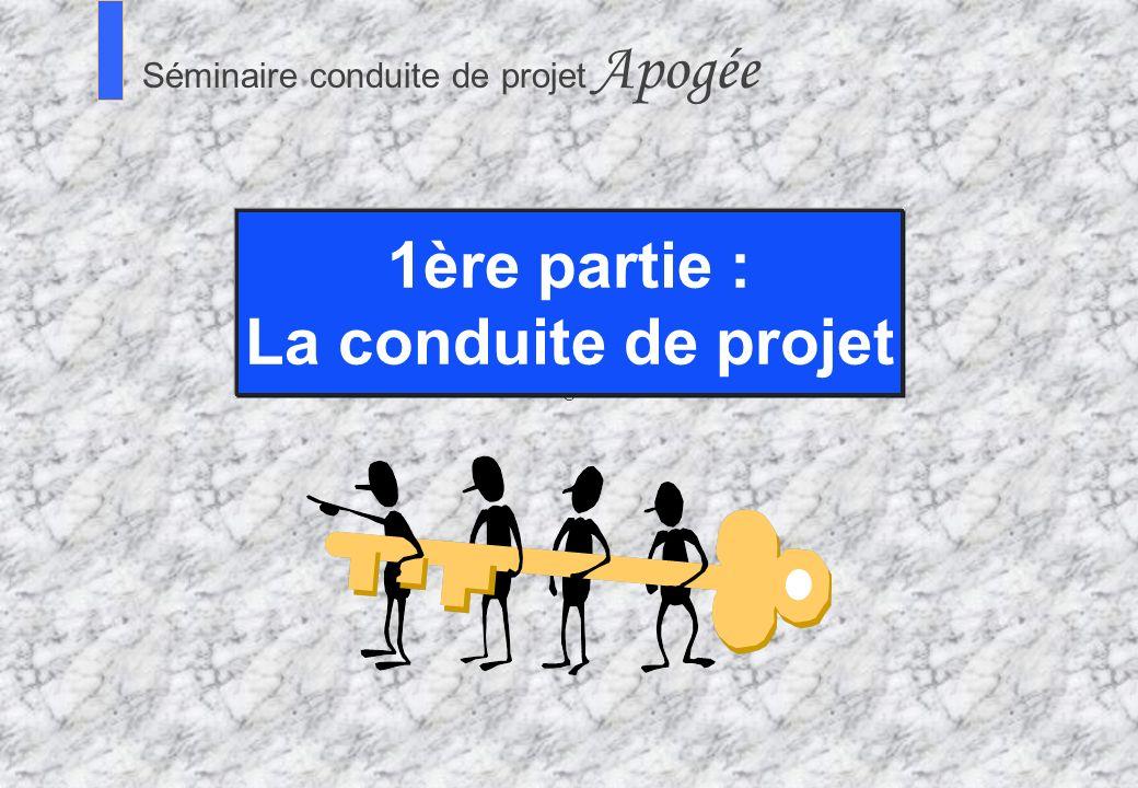1ère partie : La conduite de projet