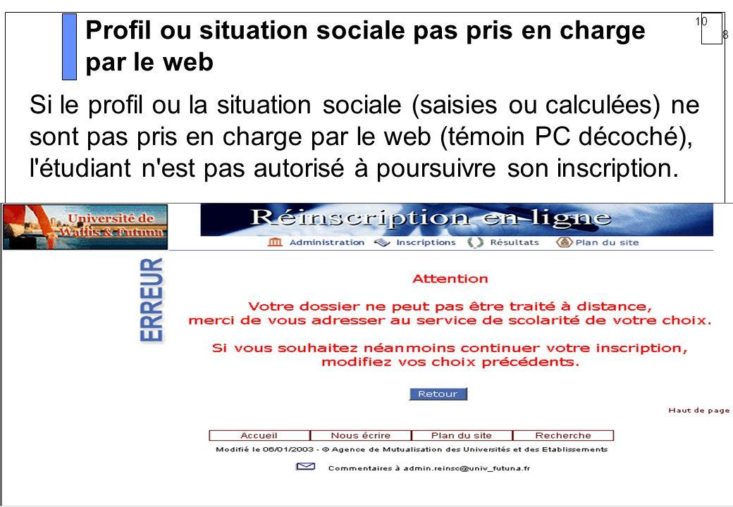 Profil ou situation sociale pas pris en charge par le web